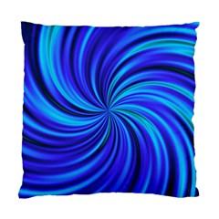 Happy, Blue Standard Cushion Case (One Side)