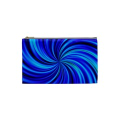 Happy, Blue Cosmetic Bag (Small)