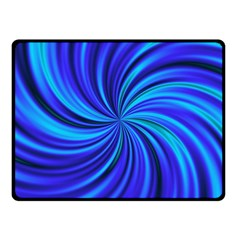 Happy, Blue Fleece Blanket (small)