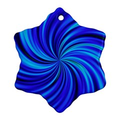 Happy, Blue Snowflake Ornament (2-Side)