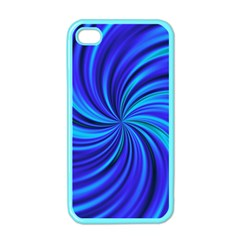 Happy, Blue Apple iPhone 4 Case (Color)