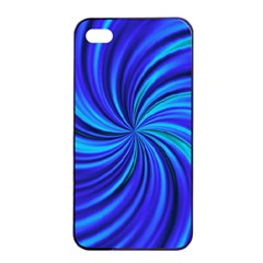 Happy, Blue Apple iPhone 4/4s Seamless Case (Black)