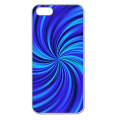 Happy, Blue Apple Seamless iPhone 5 Case (Clear)