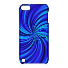 Happy, Blue Apple iPod Touch 5 Hardshell Case with Stand