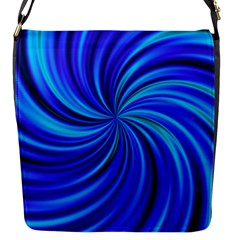 Happy, Blue Flap Messenger Bag (S)