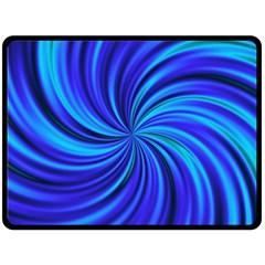 Happy, Blue Double Sided Fleece Blanket (large)