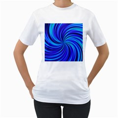 Happy, Blue Women s T-Shirt (White)