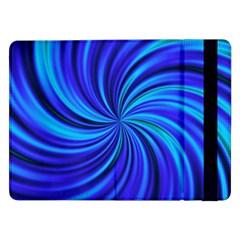 Happy, Blue Samsung Galaxy Tab Pro 12 2  Flip Case