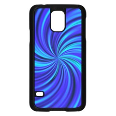 Happy, Blue Samsung Galaxy S5 Case (Black)