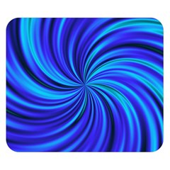 Happy, Blue Double Sided Flano Blanket (small)