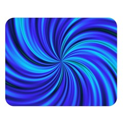Happy, Blue Double Sided Flano Blanket (Large)