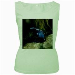 Blue Poison Arrow Frog Women s Green Tank Tops