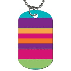 Jagged stripes Dog Tag (Two Sides)