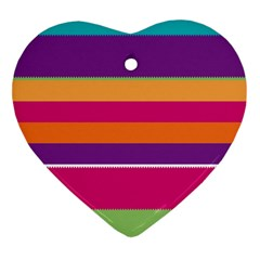 Jagged stripes Heart Ornament (Two Sides)