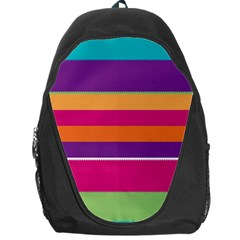 Jagged Stripes Backpack Bag