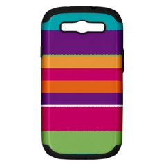 Jagged stripes Samsung Galaxy S III Hardshell Case (PC+Silicone)