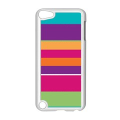 Jagged stripes Apple iPod Touch 5 Case (White)