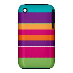 Jagged Stripes Apple Iphone 3g/3gs Hardshell Case (pc+silicone)