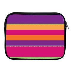 Jagged stripes Apple iPad 2/3/4 Zipper Case