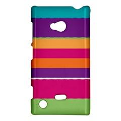 Jagged Stripes Nokia Lumia 720 Hardshell Case