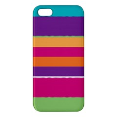 Jagged stripes iPhone 5S Premium Hardshell Case