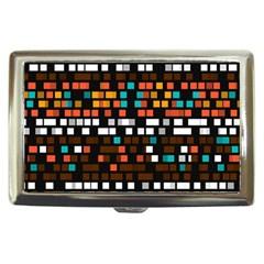Squares pattern in retro colors Cigarette Money Case