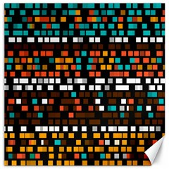 Squares pattern in retro colors Canvas 20  x 20