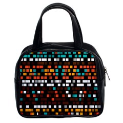 Squares pattern in retro colors Classic Handbag (Two Sides)