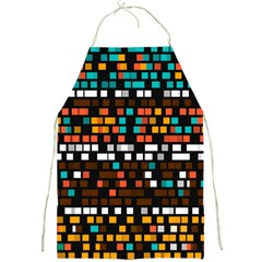 Squares pattern in retro colors Full Print Apron