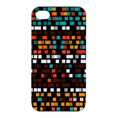 Squares pattern in retro colors Apple iPhone 4/4S Hardshell Case