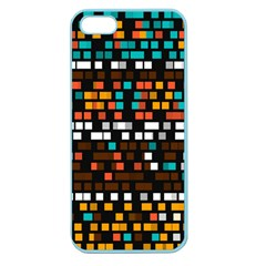 Squares pattern in retro colors Apple Seamless iPhone 5 Case (Color)