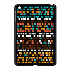 Squares pattern in retro colors Apple iPad Mini Case (Black)