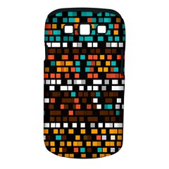 Squares pattern in retro colors Samsung Galaxy S III Classic Hardshell Case (PC+Silicone)