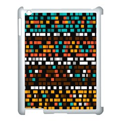 Squares pattern in retro colors Apple iPad 3/4 Case (White)