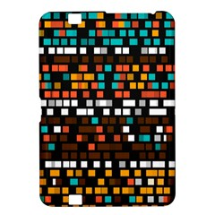 Squares pattern in retro colors Kindle Fire HD 8.9  Hardshell Case