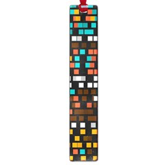 Squares pattern in retro colors Large Book Mark