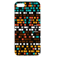 Squares pattern in retro colors Apple iPhone 5 Hardshell Case with Stand