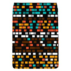 Squares pattern in retro colors Removable Flap Cover (S)