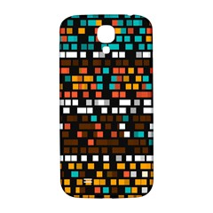 Squares pattern in retro colors Samsung Galaxy S4 I9500/I9505  Hardshell Back Case