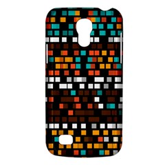Squares pattern in retro colors Samsung Galaxy S4 Mini (GT-I9190) Hardshell Case