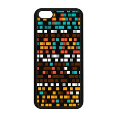 Squares pattern in retro colors Apple iPhone 5C Seamless Case (Black)
