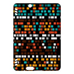 Squares Pattern In Retro Colors Kindle Fire Hdx Hardshell Case