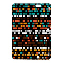 Squares Pattern In Retro Colors Kindle Fire Hdx 8 9  Hardshell Case