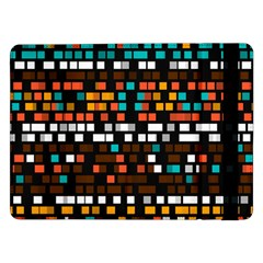 Squares pattern in retro colors	Samsung Galaxy Tab Pro 12.2  Flip Case
