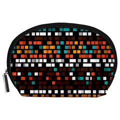 Squares pattern in retro colors Accessory Pouch