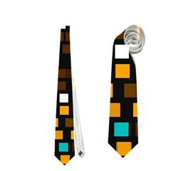Squares pattern in retro colors Necktie