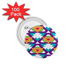 Triangles and other shapes pattern 1.75  Button (100 pack)