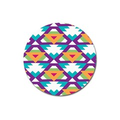 Triangles and other shapes pattern Magnet 3  (Round)