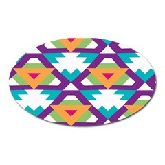 Triangles and other shapes pattern Magnet (Oval)
