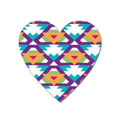 Triangles and other shapes pattern Magnet (Heart)